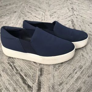 VINCE navy platform sneaker